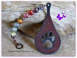 rainbow bridge teardrop paw print memorial ornament by