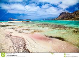 pink sand and turquoise blue water royalty free stock images