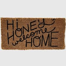Fun Doormat Natural Coir Honey Welcome Doormat Antique Farmhouse