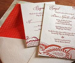 contemporary indian wedding invitations modern indian wedding invitation envelope liner letterpress