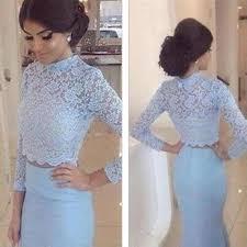 mermaid natural waist zipper long sleeves lace prom dresses 2017