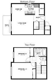 apartment 2 story apartment plans