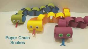 how to make a paper chain snake youtube