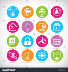 smart home icons home automation system stock vector 223502212