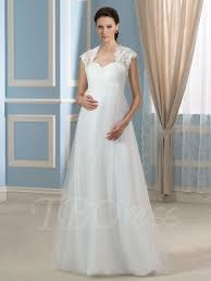 maternity wedding dresses lace up tulle spaghetti straps a line maternity wedding dress with