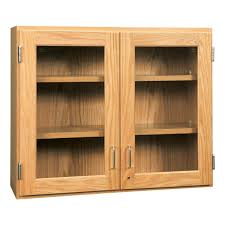 oak kitchen wall cabinet with glass doors wall cabinet w glass doors