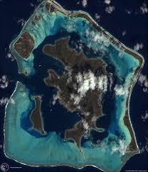 Satellite View Maps Ikonos Satellite Image Of Bora Bora Pacific Ocean Satellite