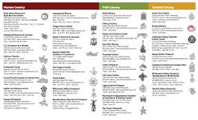 Oregon Winery Map by Tri County Charm Trail Eola Hills