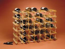 Kitchen Wine Cabinet Amazon Com J K Adams Ash Wood 40 Bottle Wine Rack Natural Home