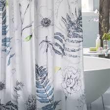 Designer Shower Curtains Fabric Designs Guild Acanthus Indigo Shower Curtain