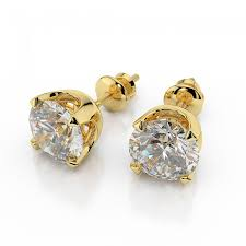 gold diamond stud earrings diamond stud earrings classic 1 2 carat 0 40ct cut