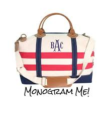 nautical bags nautical monogrammed weekender bag