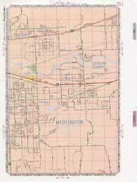 Washington Highway Map by Veradale Community Road Map