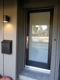 Modern Exterior Doors by Danum Multi Lite Door With Obscure White Laminate Glass 1 3 4