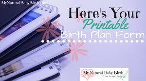 here u0027s your printable birth plan form