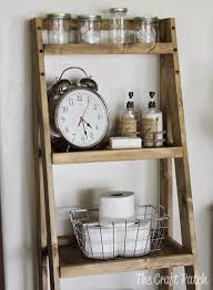 Diy Ladder Shelf Shelves Tutorials by The Craft Patch Diy Ladder Shelf Bathroom Storage