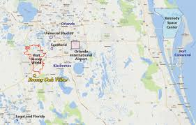 Disney World Florida Map by Location Breezy Oak Villas Florida Vacation Rental Villas Near