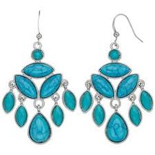 Turquoise Chandelier Earrings Polyvore Zircon Faux Turquoise Chandelier Drop Earrings 1 56 Liked On