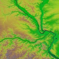 Map Of St Louis Area Relief Map Of St Louis Missouri Image Of The Day