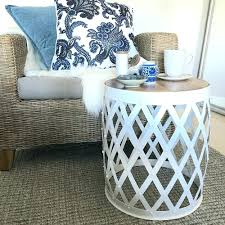 silver barrel side table side table barrel shaped side table full size of coffee sofa l uk