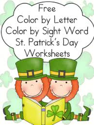 free st patrick u0027s day worksheets sight and sound reading