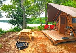 tent platform a new glamping resort is open in new hampshire