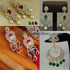 heavy diamond earrings 49 earrings and jewelry antique earrings indian jewelry