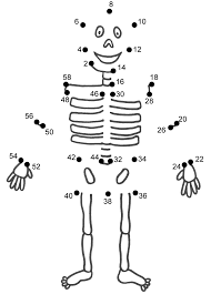 Halloween Skeleton Crafts Connect The Dots Page Anatomy Lessons Pinterest Skeletons