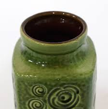 green scheurich vase 282 20 west germany pottery jura decor mid