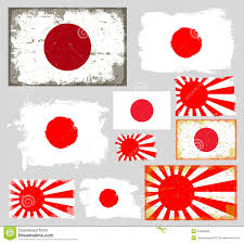 japan flag collection vector stock vector image 42508699