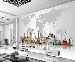 3d murals customized wallpaper for walls world famous architecture 3d murals