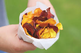Roots Vegetable Crisps - fall fruit and veggie recipes you can enjoy with your dog