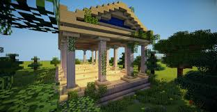 minecraft greek temple tutorial youtube