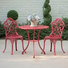 Kirklands Patio Furniture Turquoise Fleur De Lis Cast Iron Bistro Set Kirklands