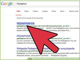 how to create mp3 files from articles pediaphon