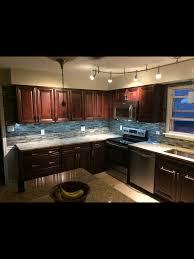 Kitchen Backsplash Ideas With Santa Cecilia Granite Fabu Wood Cabinets In Espresso St Cecilia Granite And Allen