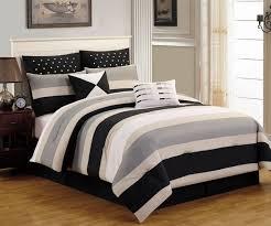 Black And White Comforter Full Bedroom Black And White Chevron Comforter With Sham And Cushion