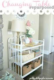 What To Do With Changing Table After Baby Changing Table To Bar Cart Bar Carts Repurposing And Paint