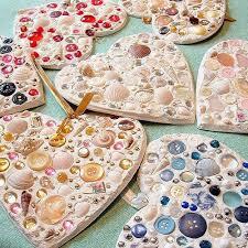 sea shell button ornaments crafts