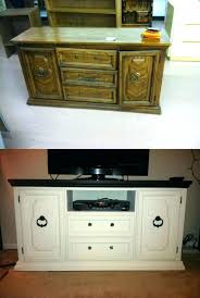 dresser dresser tv stand turned refurbished into dresser tv