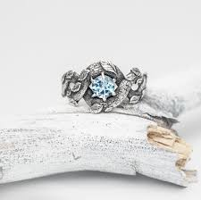nature inspired engagement rings blue ring nature inspired engagement ring wedding
