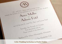 celtic wedding invitations celtic