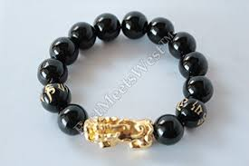 lucky bead bracelet images Chinese obsidian bead golden dragon pi xiu pi yao matra lucky jpg