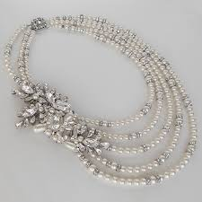 statement necklace pearl images Cheryl king couture statement pearl crystal bridal necklace jpg