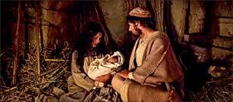 born in a manger