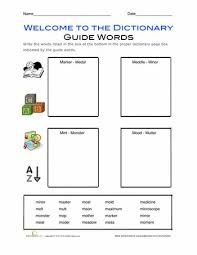 awesome collection of dictionary skills worksheets 2nd grade in