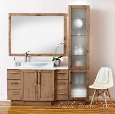 vanité chambre de bain vanite salle de bain bois idées de décoration capreol us