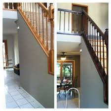 Staining Stair Banister Gel Stain General Finishes Color Java Loving It Projects