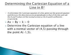 3 to determine the cartesian