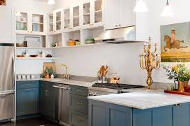 Glass Upper Cabinets No Upper Cabinets Kitchen Transitional With Small Stove